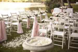 sedie e tavolo per matrimonio