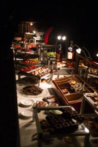 cibo e bevande del catering