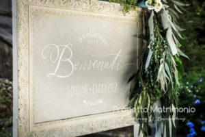 cartello benevenuti sposi