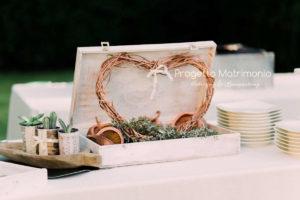 particolare per allestimento matrimonio