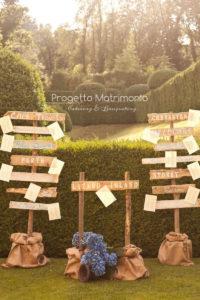 tableau de mariage con fogli di carta