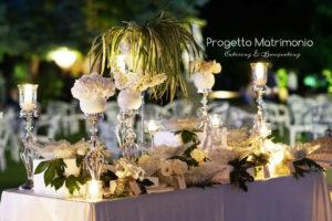 tavolo con confetti