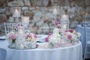 tavolo per matrimonio in stile romantico
