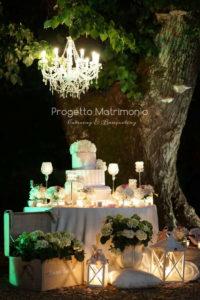 tavolo con sopra wedding cake