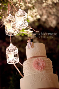 wedding cake con decorazioni