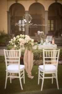 postazione per gli sposi